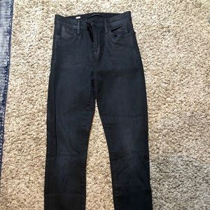 Black pleather J Brand jeans